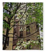 Springtime In Washington Heights 2 Fleece Blanket