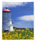 Springtime Lighthouse Fleece Blanket