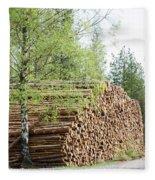 Springtime Logs Fleece Blanket