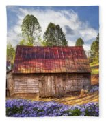 Springtime On The Farm Fleece Blanket