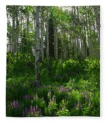Springtime On The Grand Mesa Fleece Blanket