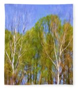 Springtime Trees Fleece Blanket
