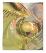 Sprouting Up - Abstract Art Fleece Blanket by Sipo Liimatainen