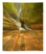 Spruce Flats Falls Explosion Fleece Blanket