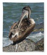 Sprucing Pelican Fleece Blanket