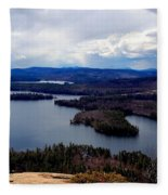 Squam Lake New Hampshire Fleece Blanket