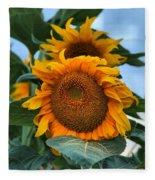 Squamish Sunflower Portrait Fleece Blanket