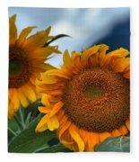 Squamish Sunflowers Fleece Blanket