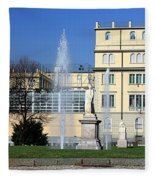 Square And Statues Fleece Blanket