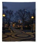 Square In Regina Fleece Blanket