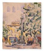 Square Of The Hotel De Ville Fleece Blanket