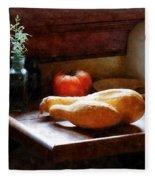 Squash And Tomato Fleece Blanket
