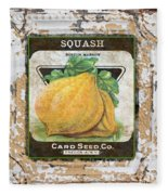 Squash On Vintage Tin Fleece Blanket