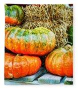 Squatty Orange Pumpkins Fleece Blanket