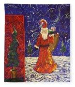 Squiggle Christmas Fleece Blanket