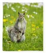 Squirrel Patrol Fleece Blanket