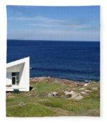 Squish Studio Tilting Fogo Island Newfoundland Fleece Blanket