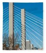 Sr-509 Cable Stayed Bridge Fleece Blanket