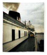 S.s. Badger Car Ferry Fleece Blanket