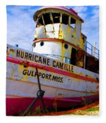 Ss Hurricane Camille Tugboat Fleece Blanket