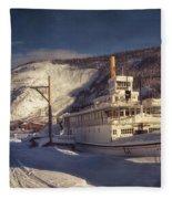 S.s. Keno Sternwheel Paddle Steamer Fleece Blanket