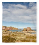St Abbs Rocky Shoreline Fleece Blanket