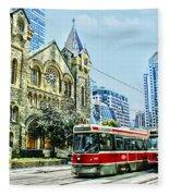 St Andrew Church In Toronto Fleece Blanket