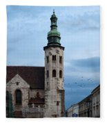 St. Andrew's Church In Krakow At Dusk Fleece Blanket