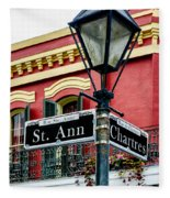 St. Ann And Chartres Nola  Fleece Blanket