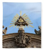 St Anne's Church In Budapest Architectural Details Fleece Blanket
