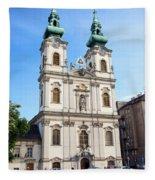 St Anne's Church In Budapest Fleece Blanket