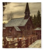 St Anne's Church In Winter Fleece Blanket