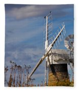 St Benets Drainage Mill Norfolk Fleece Blanket