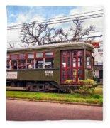 St. Charles Ave. Streetcar 2 Fleece Blanket