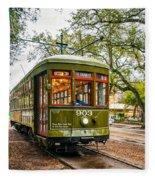 St. Charles Streetcar 2  Fleece Blanket