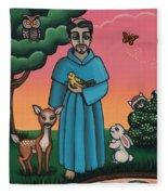 St. Francis Animal Saint Fleece Blanket