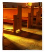 St Francis De Paula Shadow And Light Fleece Blanket