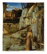 St Francis Of Assisi In The Desert Fleece Blanket