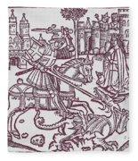 St. George - Woodcut Fleece Blanket