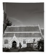 St Georges Church Preshute Fleece Blanket