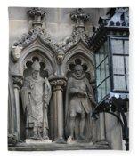 St Giles Church Statues 6600 Fleece Blanket