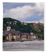 St Goar Am Rhein Fleece Blanket