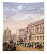 St James Palace And Conservative Club Fleece Blanket
