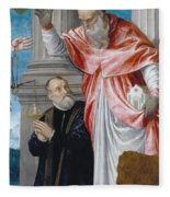 St. Jerome And A Donor Fleece Blanket