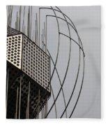 St. Joan Sculpture Vertical Fleece Blanket