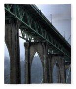 St Johns Bridge Oregon Fleece Blanket