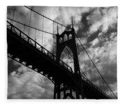 St Johns Bridge Fleece Blanket