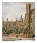 St. Johns College, Cambridge, 1843 Fleece Blanket