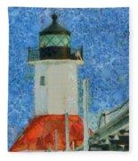 St. Joseph Lighthouse Lake Michigan Fleece Blanket