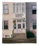 St. Joseph's Hospital Fairbanks Alaska The Chena River 1969 Fleece Blanket